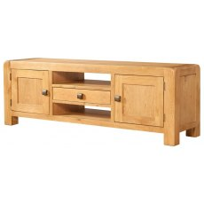 Devonshire Living: Avon Oak: Wide TV Unit