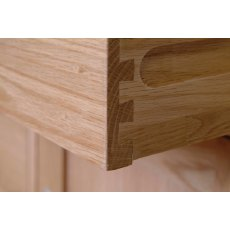 Devonshire Living: New Oak: 3 Drawer High Bedside