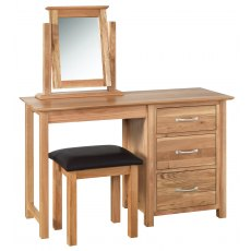 Devonshire Living: New Oak: Single Dressing Table