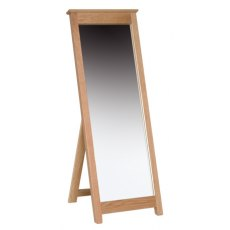 Devonshire Living: New Oak: Cheval Mirror