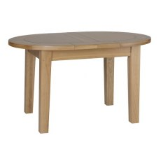 Devonshire Living: New Oak: Small D End Extending Table