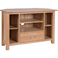 Devonshire Living: New Oak: Corner TV Unit