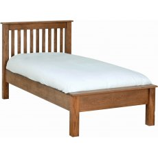 Devonshire Living: Rustic Oak: Low Foot End Beds