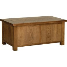Devonshire Living: Rustic Oak: Blanket Box
