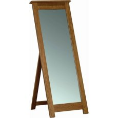 Devonshire Living: Rustic Oak: Cheval Mirror