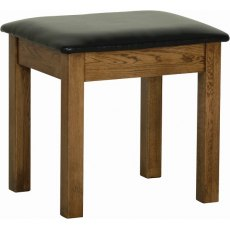 Devonshire Living: Rustic Oak: Dressing Table Stool