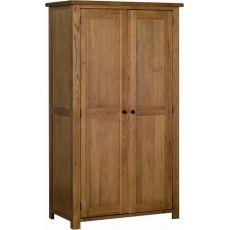 Devonshire Living: Rustic Oak: Ladies All Hanging Wardrobe