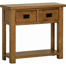 Devonshire Living: Rustic Oak: 2 Drawer Console Table
