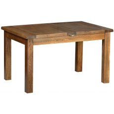 Devonshire Living: Rustic Oak: 4' 4' Extendable Table (2 Leaf)