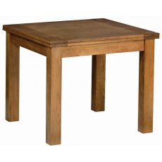 Devonshire Living: Rustic Oak: 3' 3' Flip Top Extendable Table