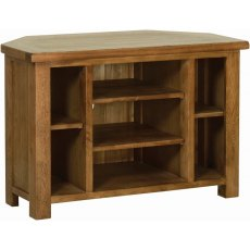 Devonshire Living: Rustic Oak: Corner TV Unit