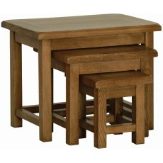 Devonshire Living: Rustic Oak: Nest Of Tables