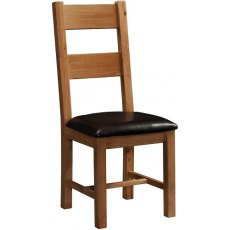 Devonshire Living: Rustic Oak: Ladder Back Chair