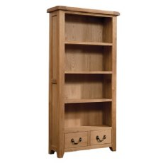 Devonshire Living: Somerset Oak: Wide Bookcase