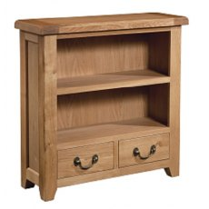 Devonshire Living: Somerset Oak: Small Wide Bookcase