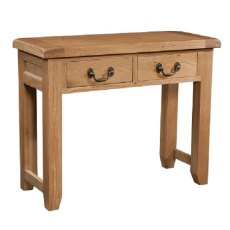 Devonshire Living: Somerset Oak: 2 Drawer Console Table