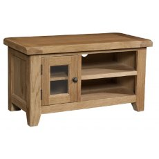 Devonshire Living: Somerset Oak: Small TV Unit