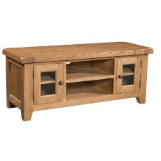 Devonshire Living: Somerset Oak: Large TV Unit