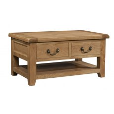 Devonshire Living: Somerset Oak: Coffee Table 2 Drawers