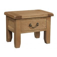 Devonshire Living: Somerset Oak: Side Table With Drawer