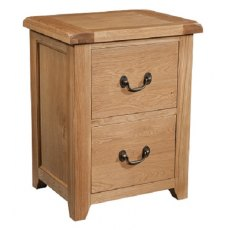 Devonshire Living: Somerset Oak: 2 Drawer Filing Cabinet