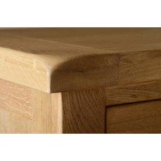 Devonshire Living: Somerset Oak: 3 Drawer Bedside