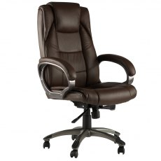 Alphason Office Chairs Northland Brown High Back Soft Feel Leather Executive Chair