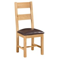 Devonshire Living: Siena Oak: Ladder Back Dining Chair