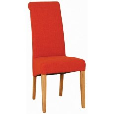 Devonshire Living: Siena Oak: Fabric Dining Chair