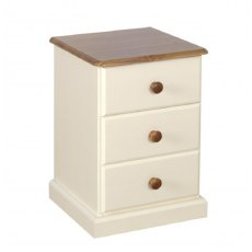 Devonshire Living: Torridge: 3 Drawer Bedside