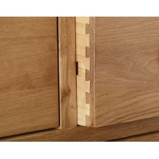 Devonshire Living: Dorset Oak: 3 Drawer Bedside