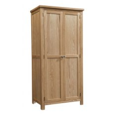 Devonshire Living: Dorset Oak: Ladies Double Wardrobe