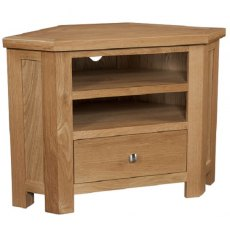 Devonshire Living: Dorset Oak: Corner TV Unit