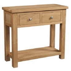 Devonshire Living: Dorset Oak: 2 Drawer Console Table