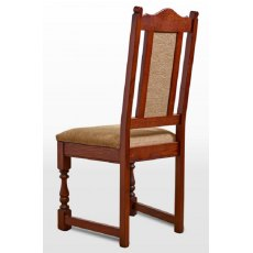 Wood Bros Old Charm Dining Chair Harris Tweed Fabric