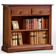 Wood Bros Old Charm Low Bookcase With Drawers