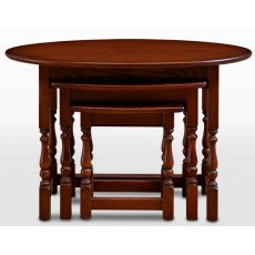 Wood Bros Old Charm Oval Nest Of Tables