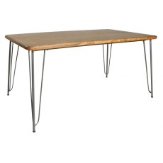 Bluebone Retro Hairpin Dining Table Plain Top