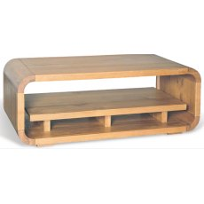 Bluebone Lounge Oak Coffee Table With Shelf