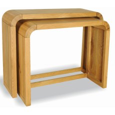 Bluebone Lounge Oak Petite Set Of 2 Consoles
