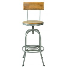 Bluebone Re-Engineered Bar Stool With Back Rest