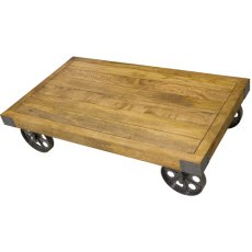 Bluebone Re-Engineered Coffee Table With Wheels