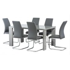 World Furniture Soho Grey Dining Table (2 Sizes)