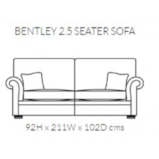 Duresta Bentley 2.5 Seater sofa