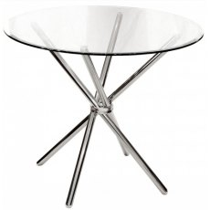 Febland Chrome Criss Cross Dining Table