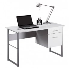 Alphason Desks Cabrini White Modern Desk