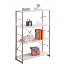 Alphason Bookcases Cabrini White Modern Bookcase