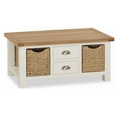 Global Home Suffolk Large Coffee Table With Baskets