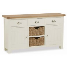 Global Home Suffolk Large Sideboard With Baskets