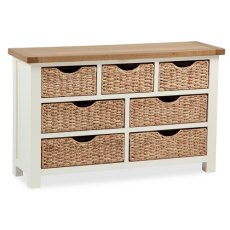 Global Home Suffolk 3 + 4 Drawer Chest With Baskets